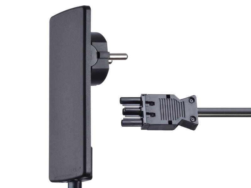 evoline plugfix mit gst18 steckverbinder schwarz. Black Bedroom Furniture Sets. Home Design Ideas